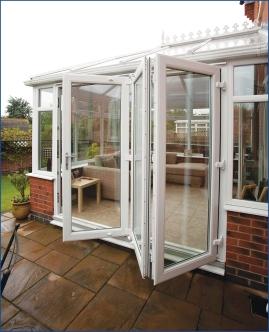 White Edwardian. Bi-fold doors.